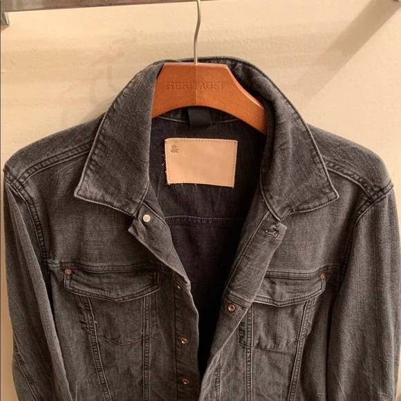 H M Jackets Coats Mens Black Denim Jacket Poshmark